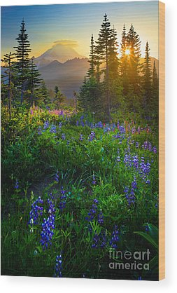 Mountain Wood Prints