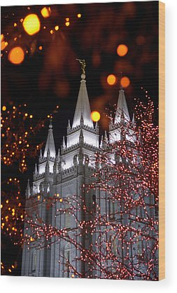 Salt Lake Temple Wood Prints