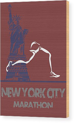 Athens Marathon Wood Prints