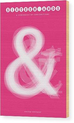 Serif Wood Prints