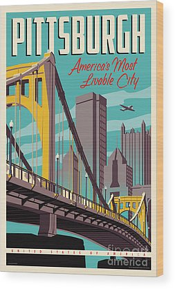 Cityscapes Wood Prints