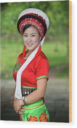 Ethnic Minority Photographs Wood Prints