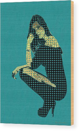 Young Woman Wood Prints