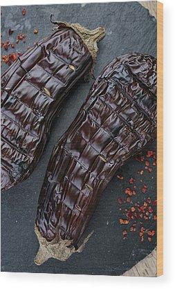 Eggplant Wood Prints