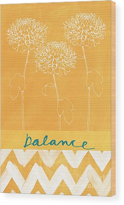 White Flowers Wood Prints