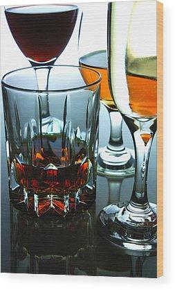 Red Wine Wood Prints