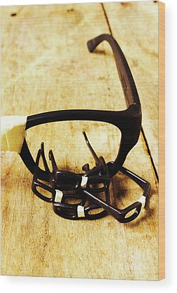 Spectacles Wood Prints