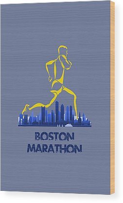 Boston Marathon Wood Prints