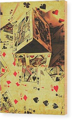 Gambling Wood Prints