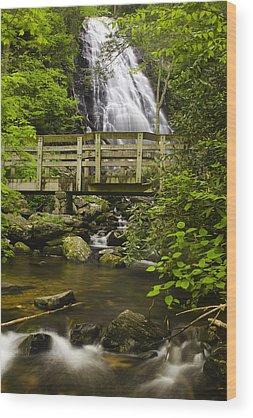 Blue Ridge Parkway Waterfalls Wood Prints