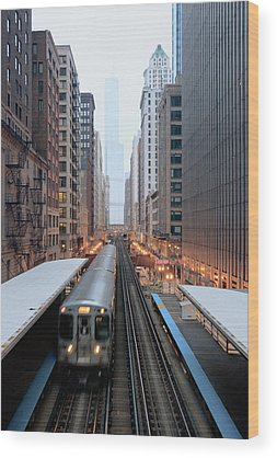 Train Tracks Wood Prints
