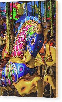 Carousel Pony Wood Prints