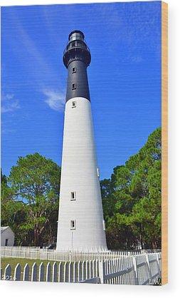 Hunting Island Lighthouse Wood Prints