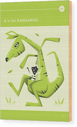 Kangaroo Wood Prints