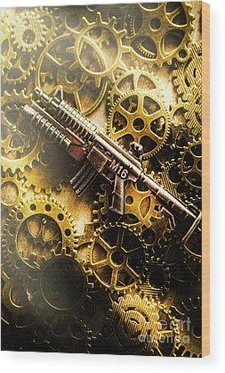 Assault Rifle Wood Prints