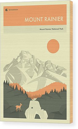 Mount Rainier Wood Prints
