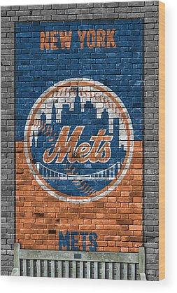 New York Mets Wood Prints