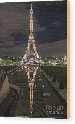 Paris Night Wood Prints