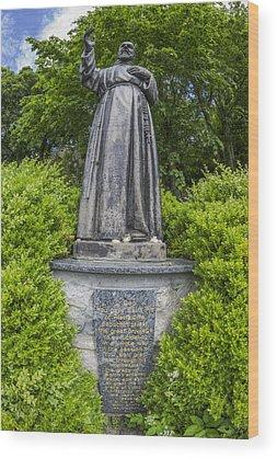 Padre Pio Wood Prints