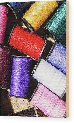 Thread Wood Prints