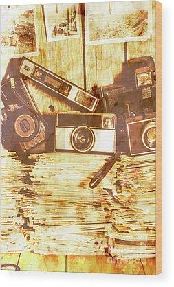 Vintage Collage Wood Prints