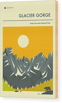 Glacier National Park Wood Prints