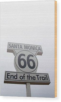 Historic Route 66 Photographs Wood Prints