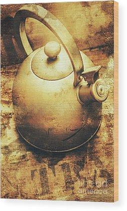 Tea Pot Wood Prints