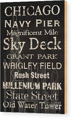 Vintage Chicago Wood Prints