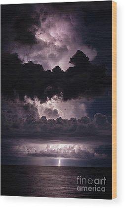 Lightning Wood Prints