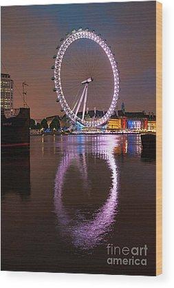 London Eye Wood Prints