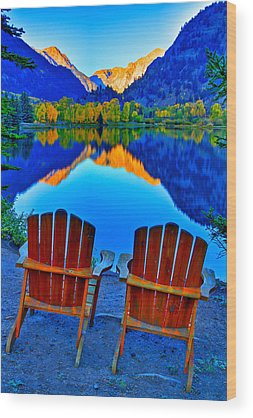 Adirondack Mountains Wood Prints