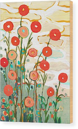 Red Poppies Wood Prints