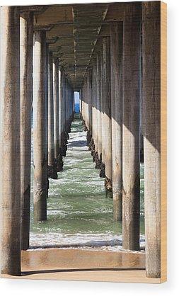 Huntington Beach California Wood Prints