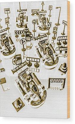 Race Car Wood Prints