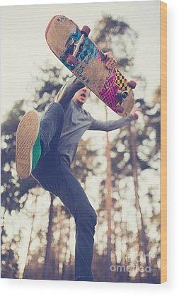 Skateboard Wood Prints