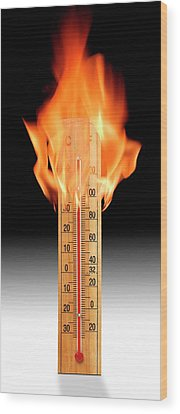 Thermometer Wood Prints