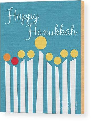 Hanukkah Wood Prints