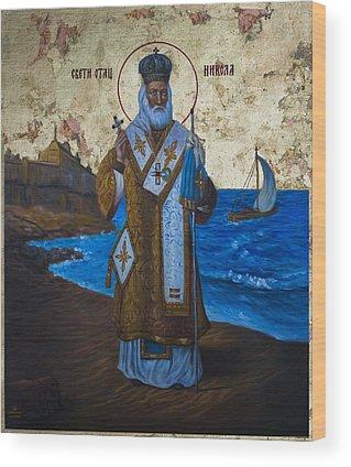 St Nicholas Of Myra Wood Prints