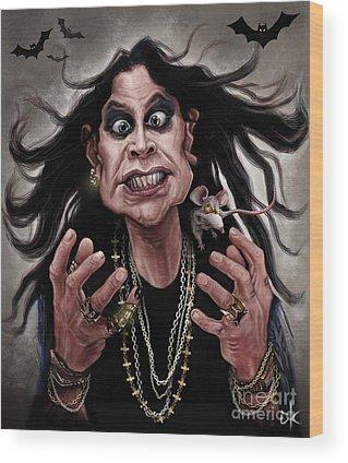 Ozzy Osbourne Wood Prints