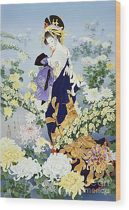 East Garden Wood Prints