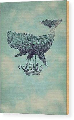 Whale Wood Prints