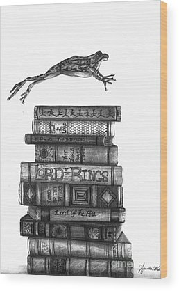 Books Wood Prints