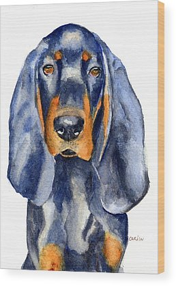 Dog Watercolor Wood Prints
