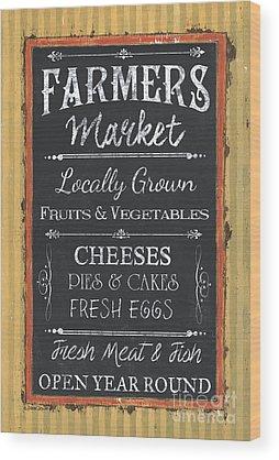 Farmers Market Wood Prints
