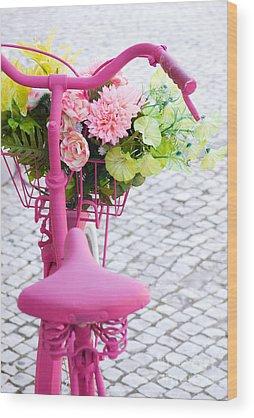 Flowers Bike Wood Prints