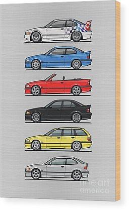 Automotive Art Series Wood Prints