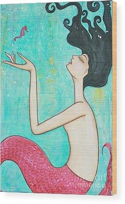 Seahorse Wood Prints