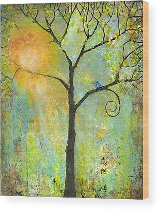 Lovebird Wood Prints