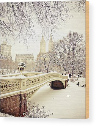 New York Snow Photographs Wood Prints
